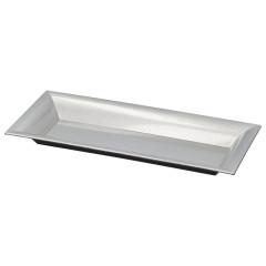 HOME DECO Dekoračný tanier 28x12,5 cm strieborný brokát