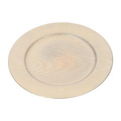 HOME DECO Dekoračný tanier Q 33 cm zlatá