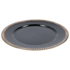 HOME DECO Dekoračný tanier Q 33 cm čierna