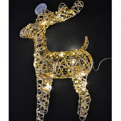CHRISTMAS DECOR Sob LED 37 cm 30 led zlatý
