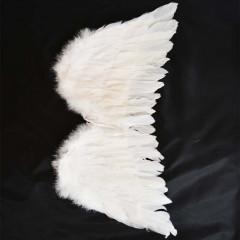 Anjelské krídla biele na karneval  50 cm