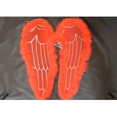 Anjelské krídla červené na karneval 50 cm