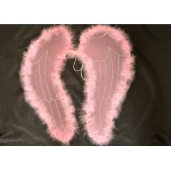 Anjelské krídla ružové na karneval 50 cm