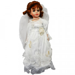 HOME DECO Porcelánová bábika 41cm,  nevesta