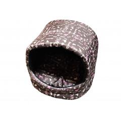 Búdka pre psa, pre mačku hnedo, sivo, rúžová  35x35x30 cm