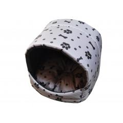 Búdka pre psa, pre mačku čierne kostičky a labky 35x35x30 cm