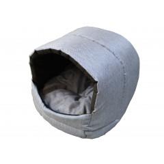 Búdka pre psa, pre mačku modro-biela 35x35x30 cm