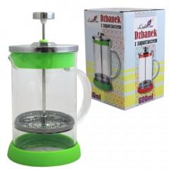 GLASS FEELING Nádoba na čaj a kávu s piestom 600 ml