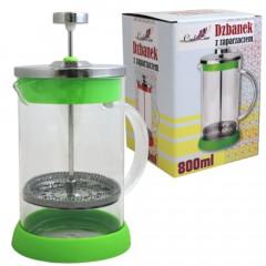 GLASS FEELING Nádoba na čaj a kávu s piestom 800 ml
