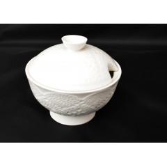 Cukornička biela keramická