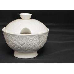Cukornička biela keramická  10x12 cm