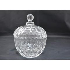 GLASS FEELING Dóza na cukríky-sklenená 14 cm