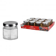 KITCHEN CLASSIC Dózička sklenená plechovým uzáverom 50 ml