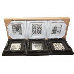 Fotorámik drevený na 3 fotky  10x12 cm