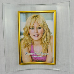 PHOTO SKILL Fotorámik sklenený prehnutý 10x15 cm