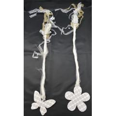 Dekorácia drevená na zavesenie  50 cm vzor ,, kvet,, alebo ,,motýľ,,