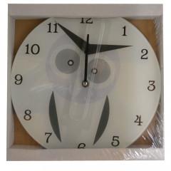 HOME DECO Nástenné hodiny 30 cm biele