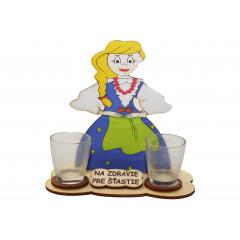 WOOD ART Dekoračný humorný predmet s 2 štamperlíkmi