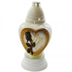 REKIN Kahanec sklenený srdce 25 cm