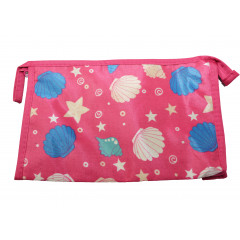 ACCESSORIES & STYLE Kozmetická taška  22x14 cm  ružová s mušľami