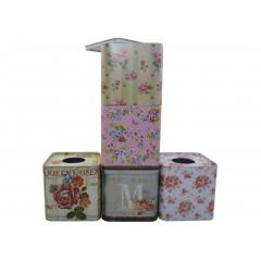 Krabička na servítky  plechová  15,5x12,5x12,5 cm