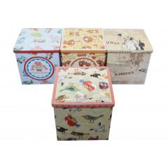 Plechová krabička malá 9,5x9,5x9,5 cm