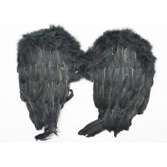 Anjelské krídla čierne na karneval  50 cm