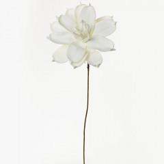 Kvet biely penový 70cm
