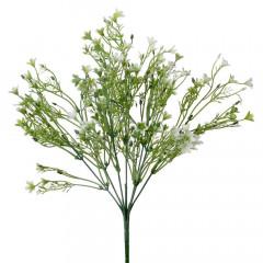 FLOWER HARMONY Zápich zeleň kvietky biele 34 cm