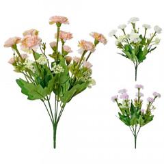 FLOWER HARMONY Kytica mini karafiáty 38 cm