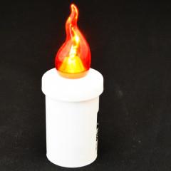 CANDLE CHIC LED svetlo červené blikajúce 11 cm 1200 hodinové