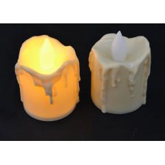 CANDLE CHIC sviečka LED  sada 2 ks, 6x5 cm