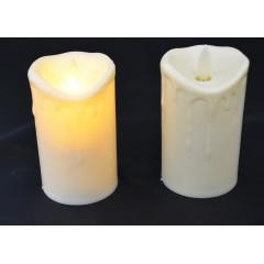 CANDLE CHIC sviečka LED - pohyblivý plameň   9x7 cm
