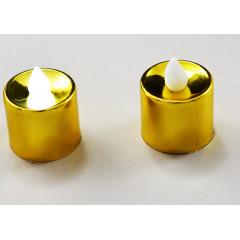 CANDLE CHIC Sviečka LED dekoračná  zlatá 3x3,5 cm