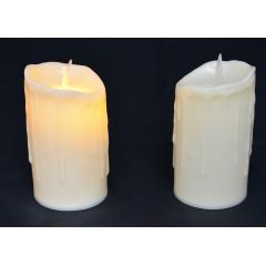 CANDLE CHIC sviečka LED - pohyblivý plameň  5,5x9 cm