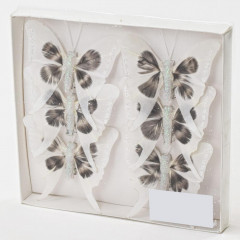 Motýľ dekoračný sada 6 ks, 8 cm