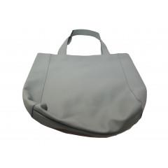 Taška nákupná koženková, sivá
