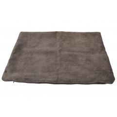 HOME DECO Obliečka na vankúš 60x40 cm kvalitný zips, pevný materiál hnedá