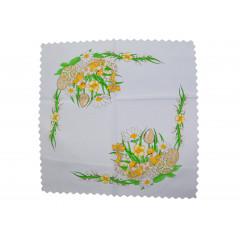 Obrus veľkonočný  46x46 cm vzor kuriatka 100% polyester