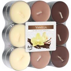 CANDLE CHIC Čajové sviečky VANILLA 18 ks