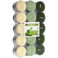 CANDLE CHIC Čajové sviečky GREEN TEA 30 ks