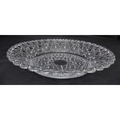 GLASS FEELING Podnos sklenený  Q30x4,8 cm