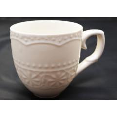 Hrnček keramický biely