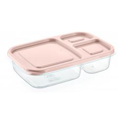 Dóza plastová delená na 3 časti  rozmer 23,5x15,3x5 cm