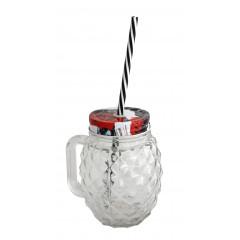 GLASS FEELING Pohár sklenený so slamkou 110 ml
