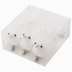 ACCESSORIES & STYLE Vtáčik dekoračný biely 14 cm 3 kusy v balení, cena za balenie