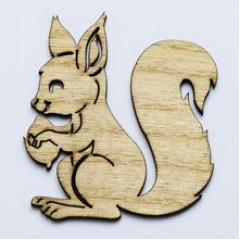 Drevený výrez - veverička 8 ks, 7 cm