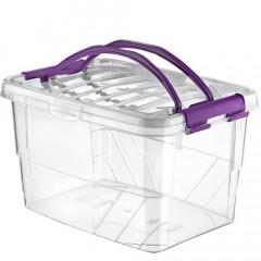 Dóza plastová s držiakom HANDY BOX 13 l  27,5x38x22 cm