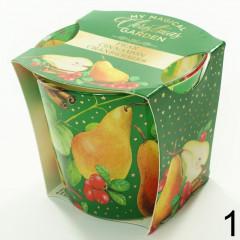 CANDLE CHIC Vianočná vonná sviečka v skle 115 g hruška, škorica, ostružiny