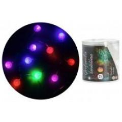CHRISTMAS DECOR Vianočné svetlo  10 LED na drôtiku
